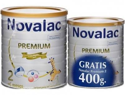 Novalac Premium 2 800g + 400g REGALO Leche de Continuación