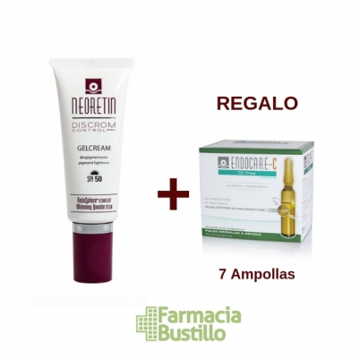 NEORETIN DC GelCrema SPF 50 Despigmentante 40ml + REGALO Endocare C Oil Free 7 ampollas