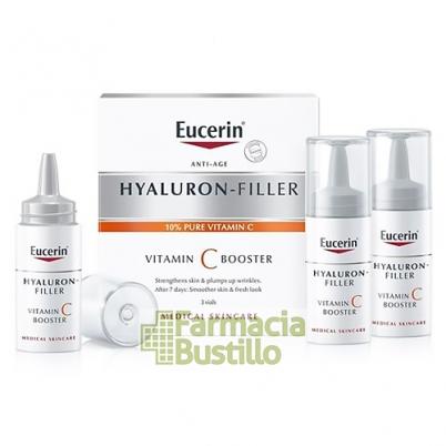 Eucerin Hyaluron-Filler Vitamin C Booster Serum 8ml x 3 unidades