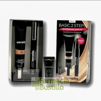 Sensilis DUPLO NEVERENDING Maquillaje NOISETTE de larga duración 18h + Corrector Iluminador