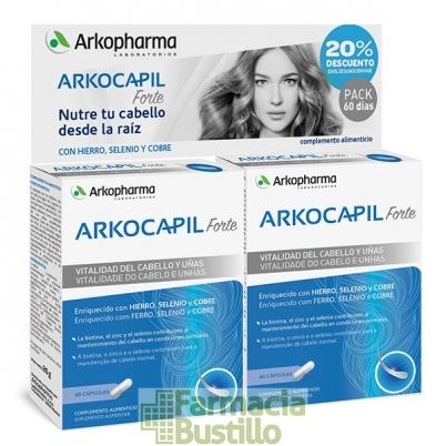 Arkocapil Forte Anticaída 2x60 Cáps DUPLO 20% Desc 2º Envase
