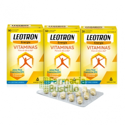 LEOTRON Vitaminas Q10, Jalea Real 30 Comp