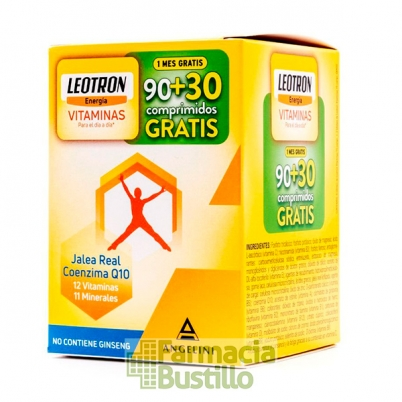 LEOTRON Vitaminas Q10, Jalea Real 90 Comp + 30 comp REGALO