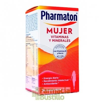 Pharmaton Mujer Vitaminas 30  Cápsulas con Vitamina B y Hierro