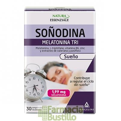 SOÑODINA Angelini melatonina, passiflora y valeriana 30 comp
