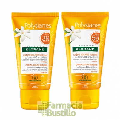 POLYSIANES Crema Solar al Monoi sublime SPF 50  50ml