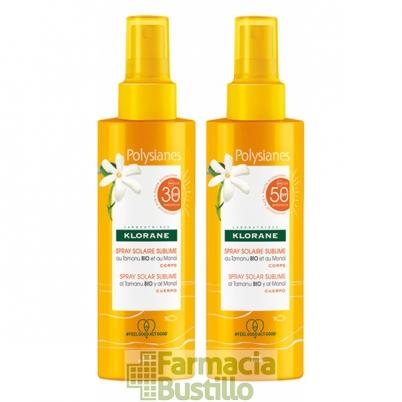 POLYSIANES Spray solar sublime loción no grasa SPF 50 al Monoi y Tamanu Bio