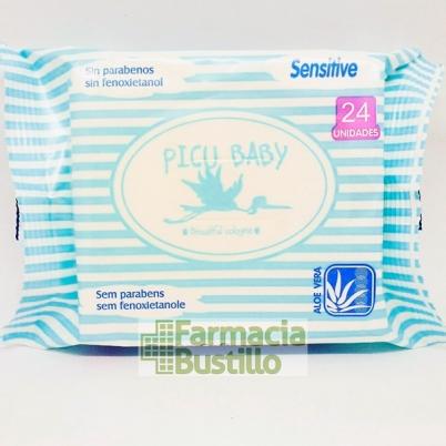 PICU Baby Toallitas Húmedas 24 unid sin Alcohol