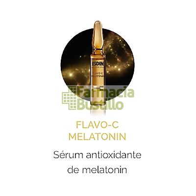 ISDINCEUTICS Flavo-C Melatonin 1 Ampollas Serum Reparador de Noche NUEVA TEXTURA