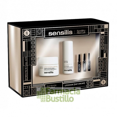 Sensilis Pack Navidad UPGRADE Crema Reafirmante de dia 50ml + Contorno Ojos 15ml + 3 Ampollas Flash