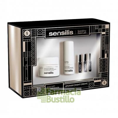 Sensilis Pack Navidad UPGRADE Crema Reafirmante de noche 50ml + Contorno Ojos 15ml + 3 Ampollas Flash