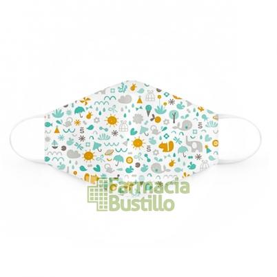 SUAVINEX Mascarillas Lavables 25 lavados 3 a 5 años 2 Unid Dibujos y Rosa