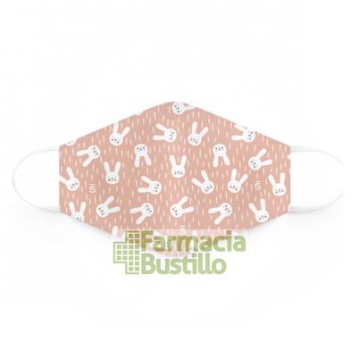 SUAVINEX Mascarillas Lavables 25 lavados 6 a 10 años 2 Unid Rosa