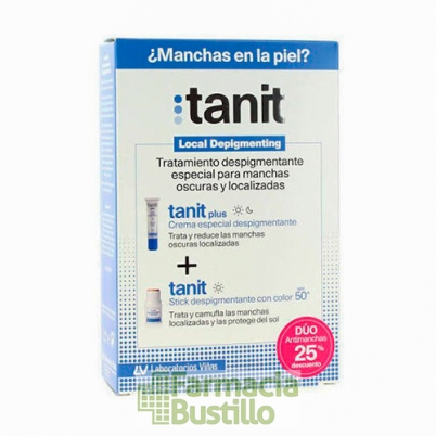 Pack TANIT Plus Despigmentante 15 ml + Tanit Stick Depigmetante con color SPF 50