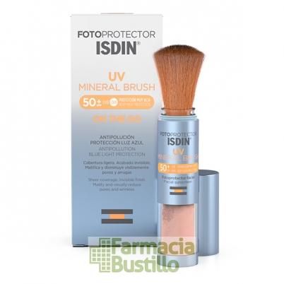 Fotoprotector ISDIN UV Mineral Brush SPF 50+ con filtros 100% minerales